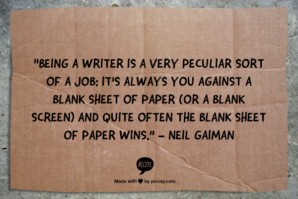 blank sheet of paper quote