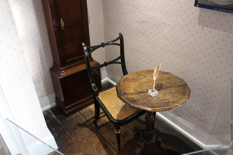 Writing Lessons From Jane Austen's House - Jane's desk