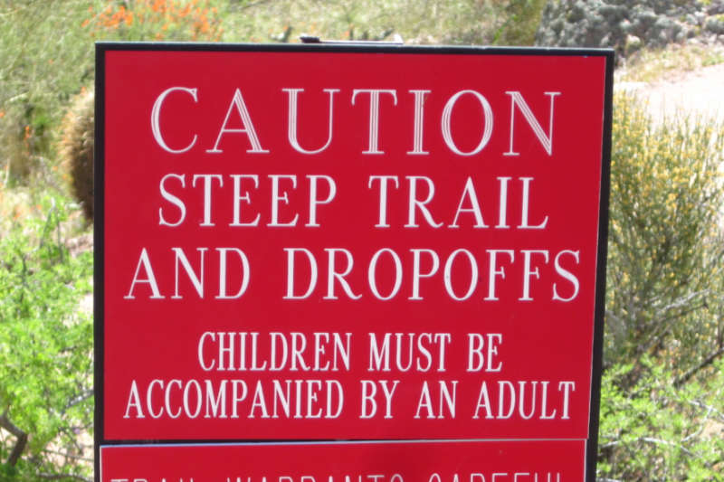 Trail caution - sometimes the path (and reading) is difficult