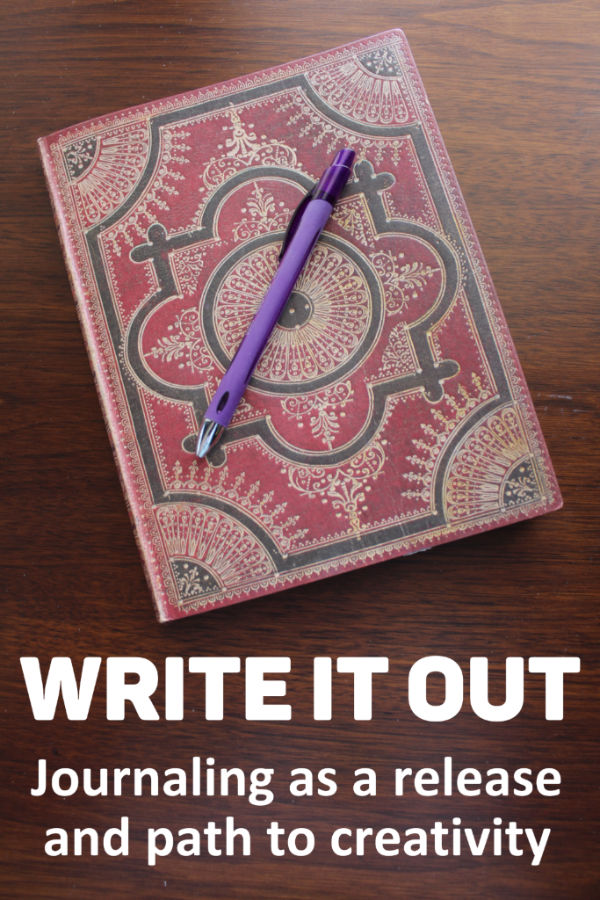 Write It Out - about journaling for release and creativity #amwriting #journal