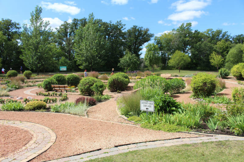 Entrance to Carol Shields Memorial Labyrinth