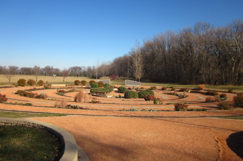 Garden labyrinth in November