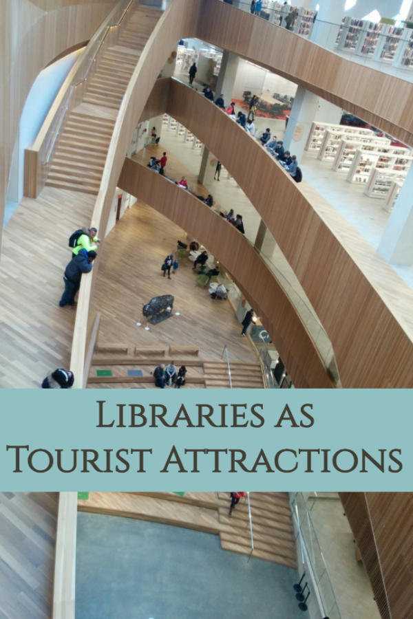 Libraries as tourist attractions - from stunning architecture to a range of amenities and programs #library #architecture #touristattraction