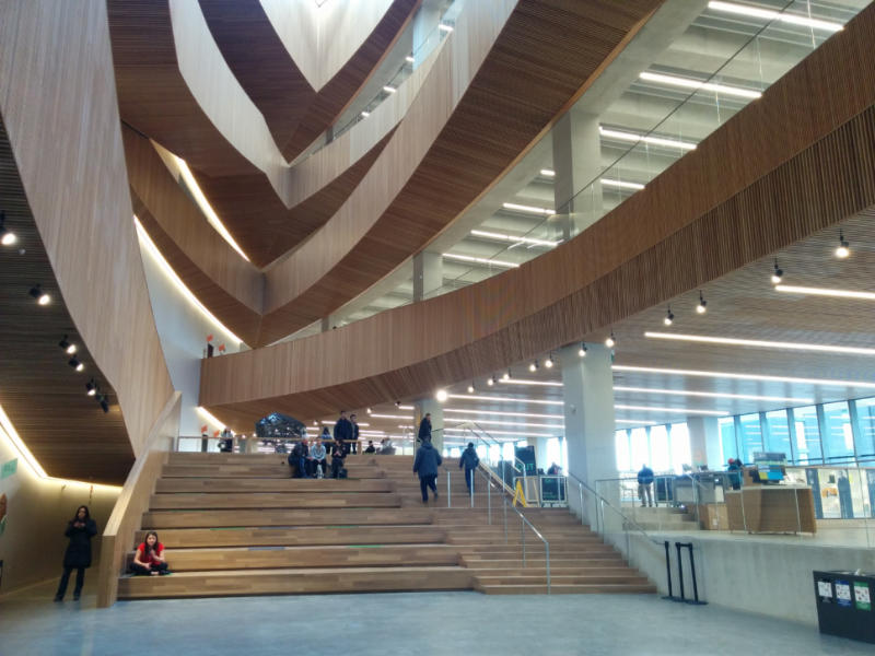 Libraries as tourist attractions - Calgary Central library staircase