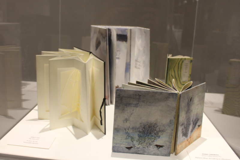 Display of four artists' books