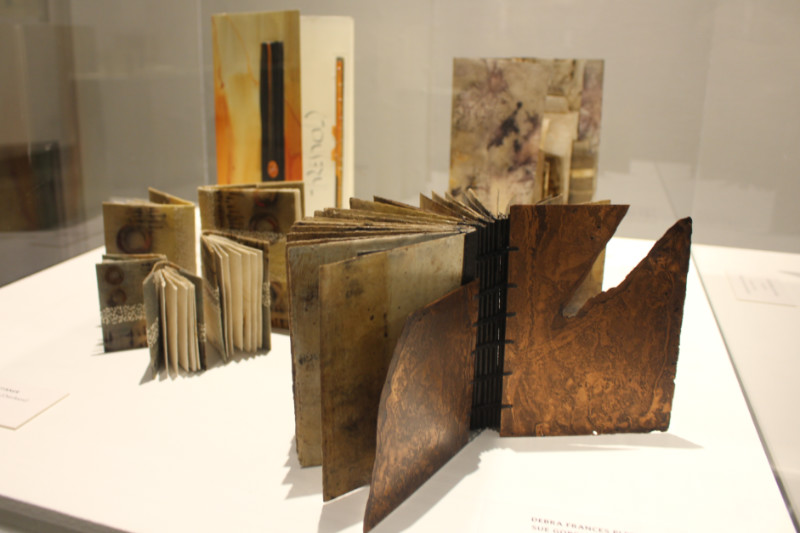 Display of four artists' books at Art of the Book