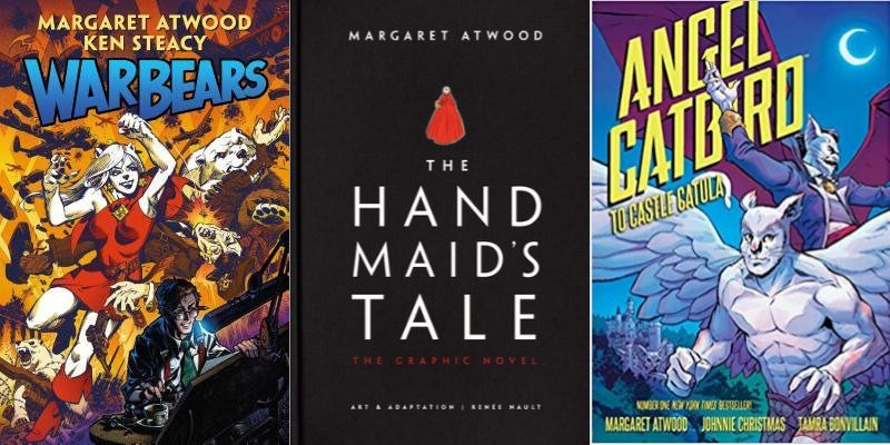 Covers of Margaret Atwood's garphic novels