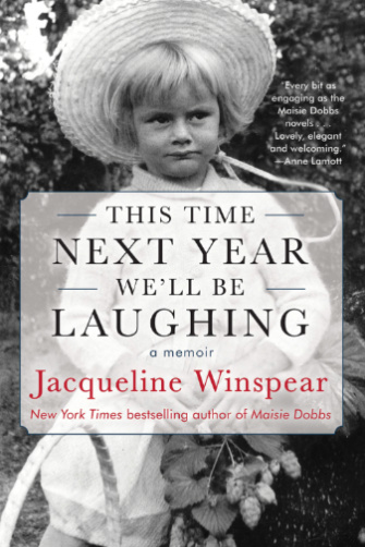 Cover of Jacqueline Winspear memoir This Time Next Year We'll Be Laughing